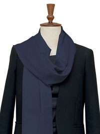 NAVY Luxury Pure Cashmere Scarf - Large