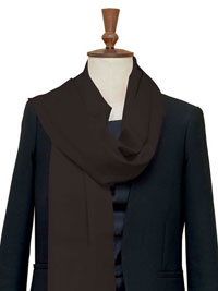 BROWN Luxury Pure Cashmere Scarf - Large