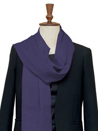 PURPLE Luxury Pure Cashmere Scarf - Large