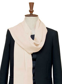 WHITE Luxury Pure Cashmere Scarf - Large