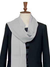 SILVER Luxury Pure Cashmere Scarf - Large