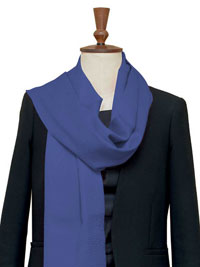 BLUE Luxury Pure Cashmere Scarf - Large