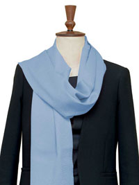POWDER BLUE Luxury Pure Cashmere Scarf - Large