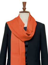 ORANGE Luxury Pure Cashmere Scarf - Large