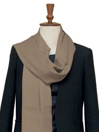 NATURAL Luxury Pure Cashmere Scarf - Large