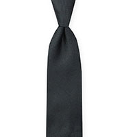 Tie-Charcoal Woven Solid