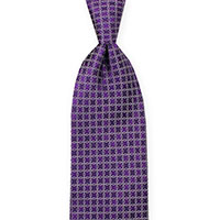 Tie-Purple Wvn Geometric