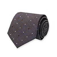Tie-Brown Woven Dot