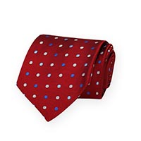 Tie-Red Woven Dot