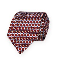 Tie-Red Woven Geometric