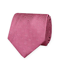 Tie-Pink Woven Dot