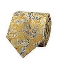 Tie-Gold Woven Paisley