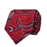 Tie-Red Woven Paisley