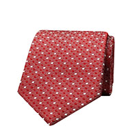 Woven Dot 100% Silk - Red