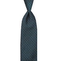 Tie-Teal Woven Neat