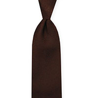 Tie-Brown Woven Solid