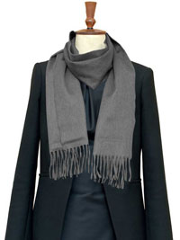 GRAY Luxury Pure Cashmere Scarf- Regular
