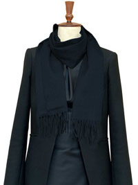 NAVY Luxury Pure Cashmere Scarf- Regular