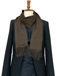 TAUPE Luxury Pure Cashmere Scarf- Regular
