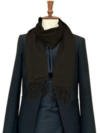 BROWN Luxury Pure Cashmere Scarf- Regular