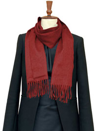 CRIMSON Luxury Pure Cashmere Scarf- Regular