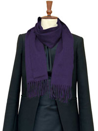 PURPLE Luxury Pure Cashmere Scarf- Regular