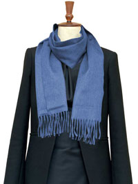BLUE Luxury Pure Cashmere Scarf- Regular