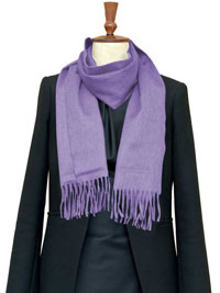 LAVENDER Luxury Pure Cashmere Scarf- Regular