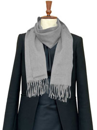 SILVER Luxury Pure Cashmere Scarf - Regular