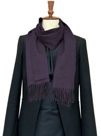MAROON Luxury Pure Cashmere Scarf- Regular