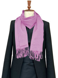 PINK Luxury Pure Cashmere Scarf- Regular