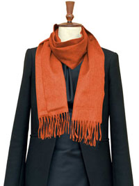 ORANGE Luxury Pure Cashmere Scarf- Regular