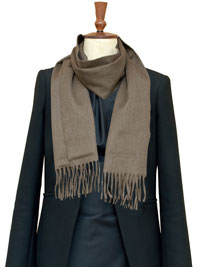 NATURAL Luxury Pure Cashmere Scarf- Regular