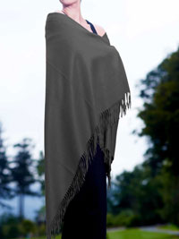 CHARCOAL Luxury Pure Cashmere Shawl