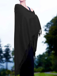 BLACK Luxury Pure Cashmere Shawl