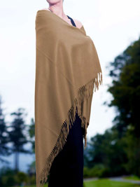 CAMEL Luxury Pure Cashmere Shawl
