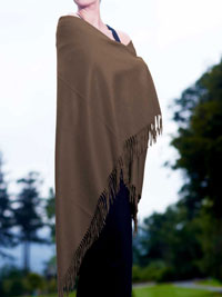 TAUPE Luxury Pure Cashmere Shawl
