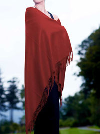 CRIMSON Luxury Pure Cashmere Shawl