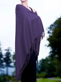 PURPLE Luxury Pure Cashmere Shawl