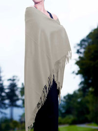WHITE Luxury Pure Cashmere Shawl