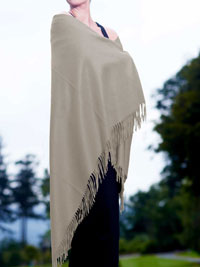 SILVER Luxury Pure Cashmere Shawl
