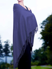 BLUE Luxury Pure Cashmere Shawl