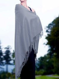 POWDER BLUE Luxury Pure Cashmere Shawl