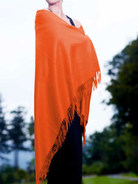 ORANGE Luxury Pure Cashmere Shawl