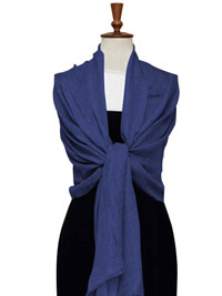 BLUE Gossamer Lighweight Cashmere Scarf