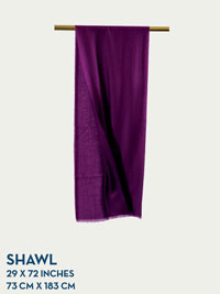 PLUM HOLLAND & SHERRY GOSSAMER COLLECTION SHAWL