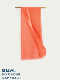 CORAL HOLLAND & SHERRY GOSSAMER COLLECTION SHAWL