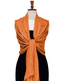 ORANGE Gossamer Lighweight Cashmere Scarf