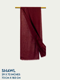 MAROON HOLLAND & SHERRY GOSSAMER COLLECTION SHAWL