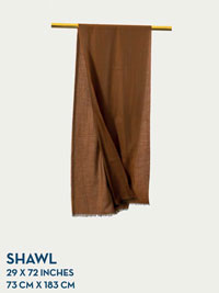 TAN HOLLAND & SHERRY GOSSAMER COLLECTION SHAWL